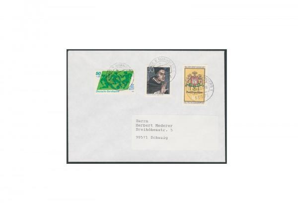 Briefmarke BRD Tag der Briefmarke 1977 Michel-Nr. 948 U gestempelt auf Brief