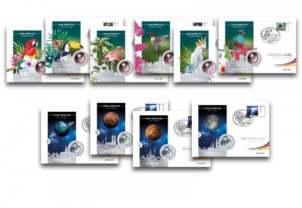 Kuverts für Numisbriefe BRD Münzen im10er Set