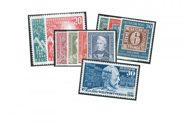 BRD Jahrgang 1949 postfrisch