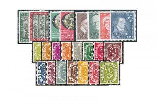 BRD Briefmarken Jahrgang 1951 mit Posthorn) postfrisch