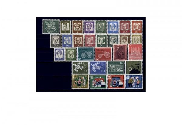 Briefmarken BRD Jahrgang 1961 Michel-Nr. 346-374 postfrisch