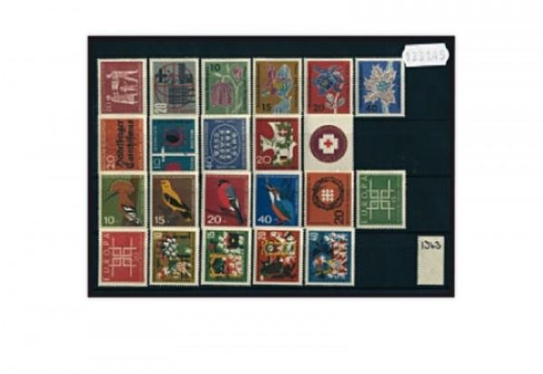 BRD Jahrgang 1963 Mi.Nr. 390-411 postfrisch