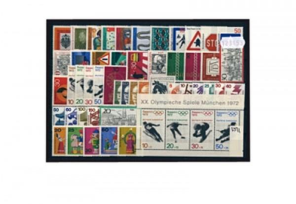 Briefmarken BRD Jahrgang 1971 Michel-Nr. 658-709 postfrisch