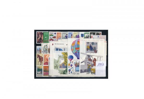 BRD Briefmarken 1997 Jahrgangssatz postfrisch