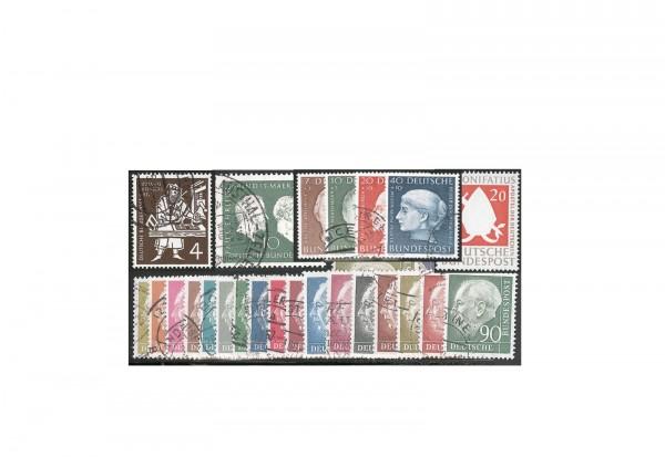 BRD Jahrgang 1954 Mi.Nr. 177/203 gestempelt