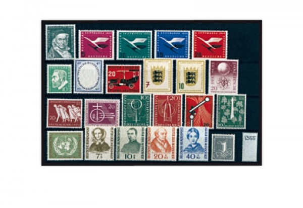 Briefmarken BRD Briefmarken Jahrgang 1955 Michel-Nr. 204-226 gestempelt
