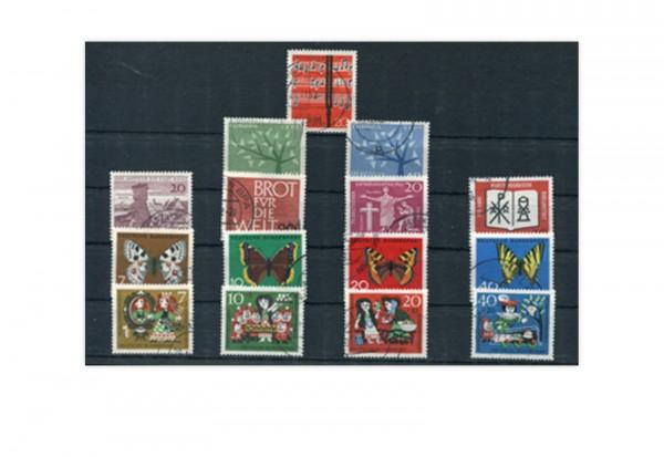 BRD Jahrgangsatz 1962 Mi.Nr. 375-389 gestempelt