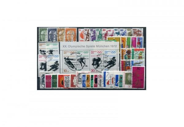BRD Jahrgangsatz 1971 Mi.Nr. 658-709 gestempelt