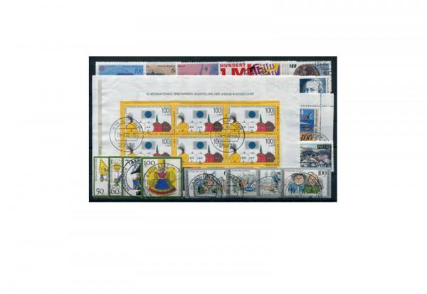 BRD Briefmarken 1990 Jahrgangssatz Michel Nr. 1444/1487 gestempelt