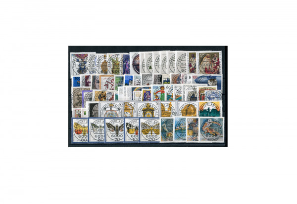 Briefmarken BRD Jahrgangssatz 1992 Michel-Nr. 1582-1644 gestempelt