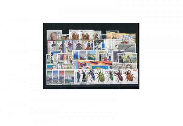 Briefmarken BRD Jahrgangssatz 1993 Michel-Nr. 1645-1708 gestempelt