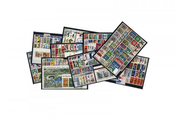 BRD Briefmarken 1970 bis 1979 komplett gestempelt
