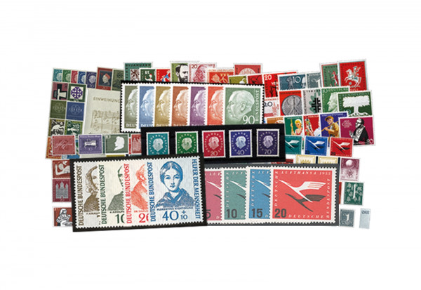 Briefmarken BRD Jahrgänge 1955 bis 1959 Michel-Nr. 204/325 postfrisch