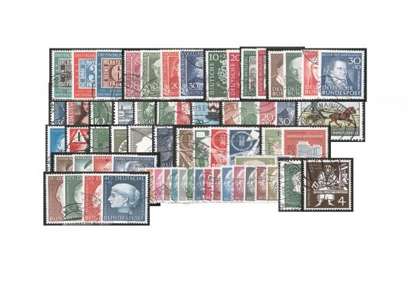 BRD Die seltenen Frühausgaben 1949-1954 gestempelt