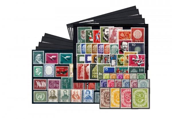 BRD Jahrgangsätze 1949-1959 (inklusive Posthornsatz) Michel Nr. 11-325 postfrisch