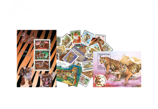 Briefmarken Tiger Sammlungt
