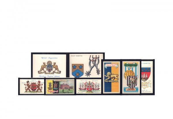 10 verschiedene Sammelbilder 1870/1935 verschiedene Motive