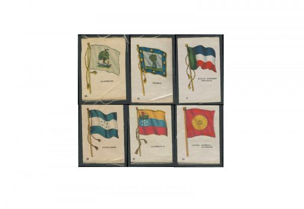 Sammelbilder aus Stoff Motiv Flaggen 3 verschiedene Sammelbilder