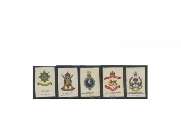Sammelbilder aus Stoff Motiv Englische Regimenter 3 verschiedene Sammelbilder