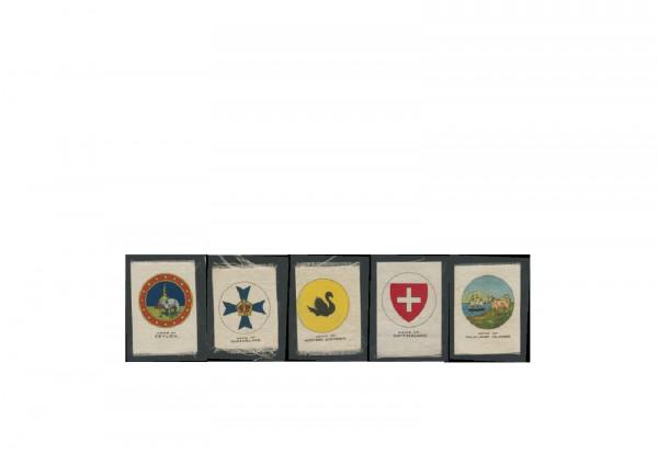 Sammelbilder aus Stoff Motiv Armeen 3 verschiedene Sammelbilder