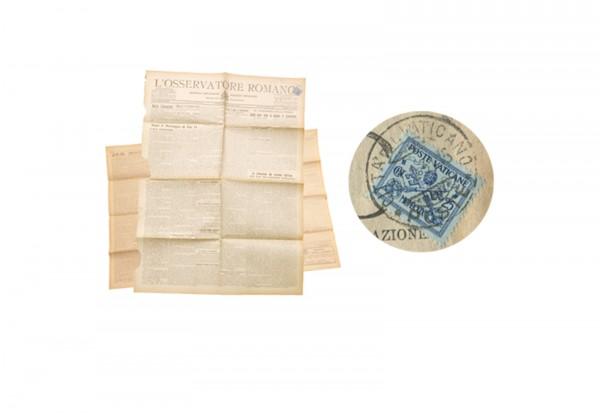 Vatikan L'osservatore romano Original Zeitung aus dem Vatikan um 1930