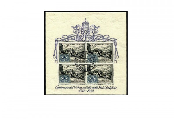 Vatikan Block 1 1952 100 Jahre Briefmarken gestempelt