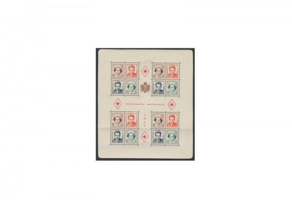 Briefmarken Monaco Rotes Kreuz 1949 Block 3 postfrisch