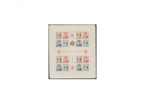 Briefmarken Monaco Rotes Kreuz 1951 Block 4 B postfrisch
