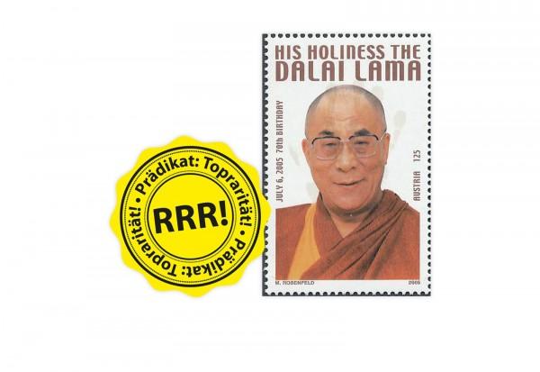 Briefmarke Österreich 70. Geburtstag Dalai Lama 2005 Michel-Nr. IX postfrisch
