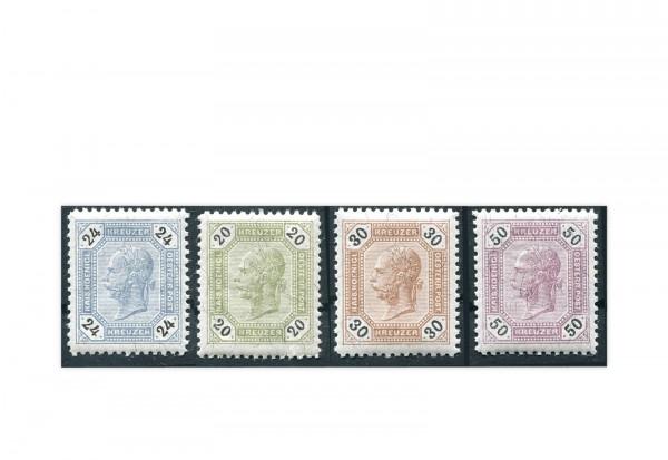 Österreich Kaiser Franz Joseph 1891 Mi.Nr. 63/66 postfrisch