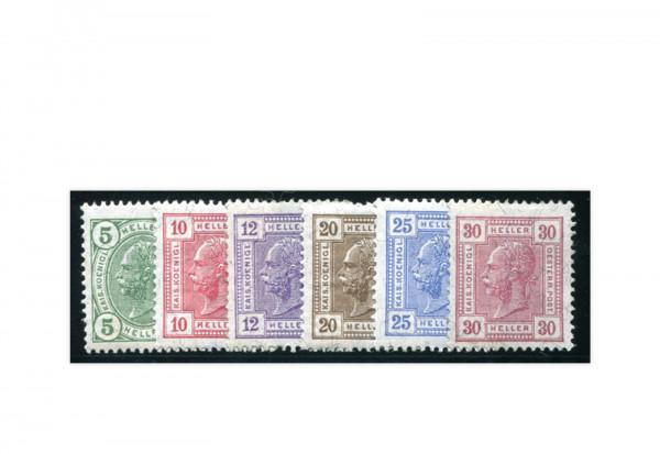 Österreich Kaiserkopfzeichnungen 1906 Mi.Nr. 133/138 **