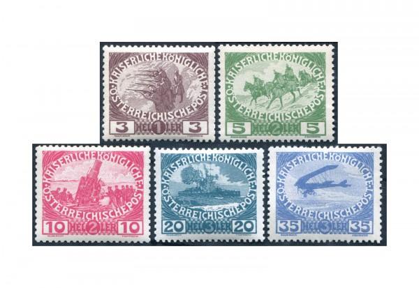 Österreich 1914 Mi.Nr. 180/184 postfrisch