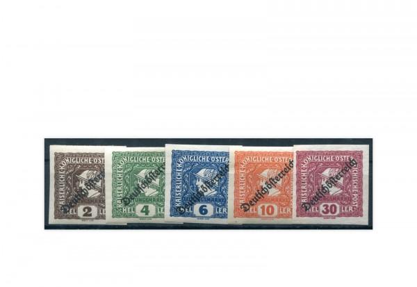 Briefmarken Österreich Merkurkopf Michel-Nr. 247/251 postfrisch