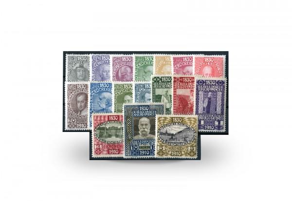 Briefmarken Österreich Geburtstag Franz Joseph 1910 Michel-Nr. 161/177 postfrisch