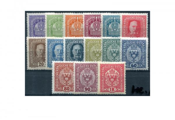 Österreich Kaiserreich Mi.Nr. 185/199 postfrisch