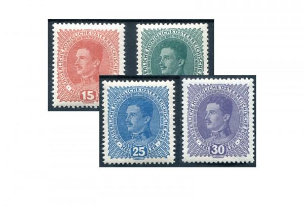 Kaiserreich Österreich 1917/18 Mi.Nr. 221/224 x postfrisch
