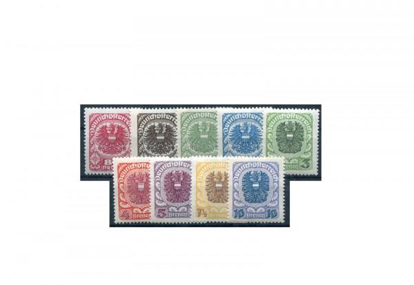 Briefmarken Österreich Freimarken 1920-1921 Michel-Nr. 312-320 y postfrisch