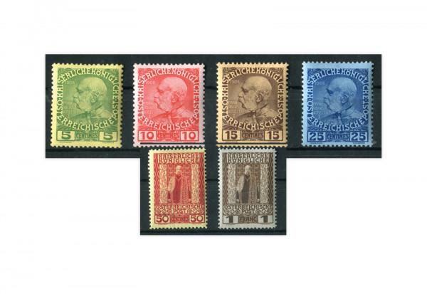 Kreta Franz Joseph 1908 Österreich Mi.Nr. 17/22 postfrisch