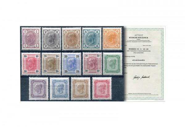 Österreich Kaiserreich Mi.Nr. 108/118 ** FA Franz Joseph 1904