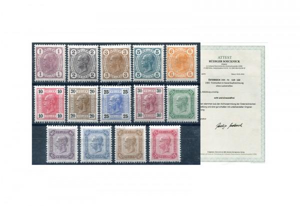 Österreich 1905 Mi.Nr. 119/132 ** FA Franz Joseph 1905