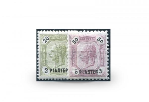 Briefmarken Österreich/Levante Franz Joseph 1891 Michel-Nr. 28/29 postfrisch