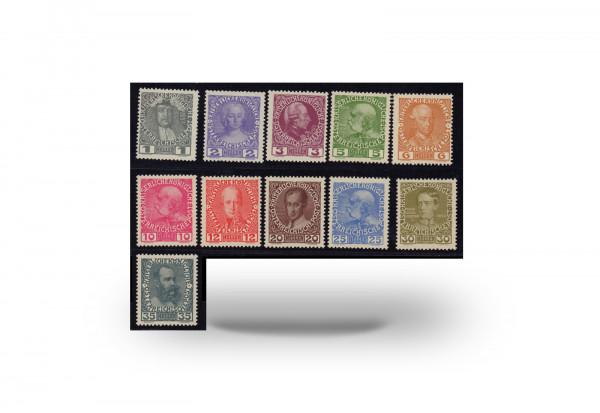 Briefmarken Österreich Regierungsjubiläum 1908 Michel-Nr. 139/49 x postfrisch
