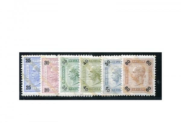 Österreich Kaiserreich 1901 Mi.Nr. 84/96 Falz Kaiserkopf mit Lackstreifen