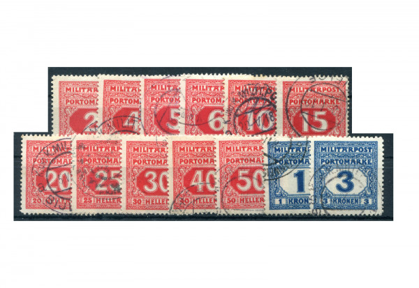 Bosnien-Herzegowina Portomarken P 14-26 Falz