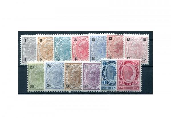 Österreich Mi.Nr. 50/62 Falz Freimarken 1890