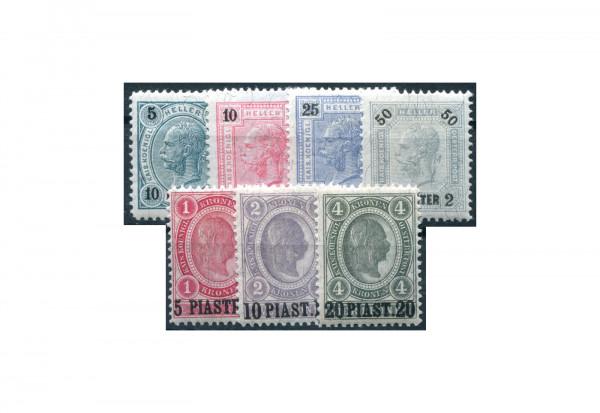Levante Freimarken: Franz Joseph 1900 Mi.Nr. 32/38 *