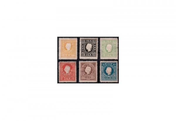 Österreich Kaiserreich Freimarken 1858 Michel Nr. 10/15 ND mit Falz