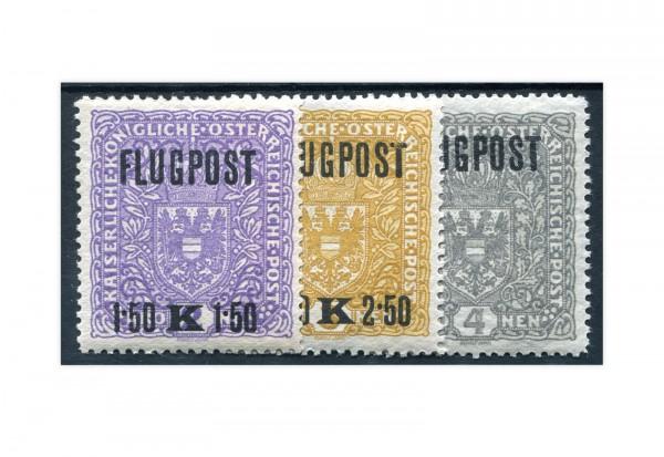 Österreich Kaiserreich Flugpostmarken 1918 Mi.Nr. 225/227 x *