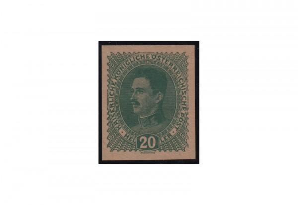 Briefmarke Österreich Freimarke 1917-1918 Michel Nr. 222a PU I (*) mit Fotoattest Soecknick BPP