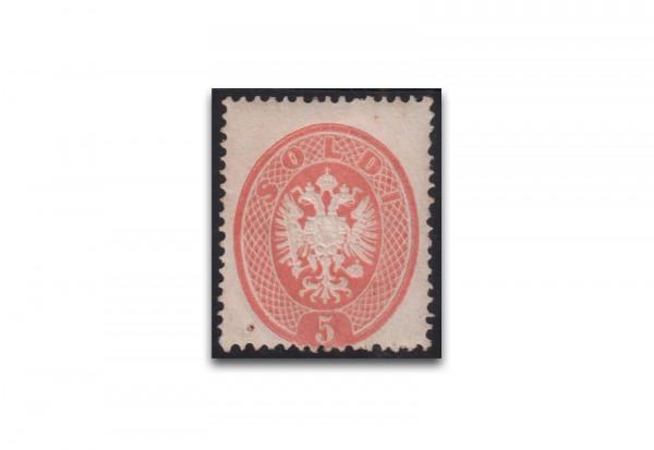 Doppeladler 1863 Österreich/Lombardei-Venetien Mi.Nr. 16 Falz Fotoattest Ferchenbauer